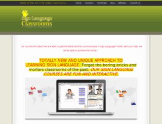 signlanguageclassrooms.com screenshot