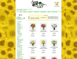 signoftheroseflorist.com screenshot