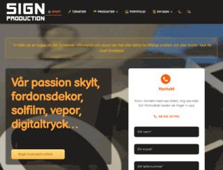 signproduction.se screenshot