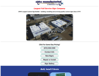 signsmanufacturing.com screenshot