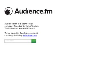 signup.audience.fm screenshot