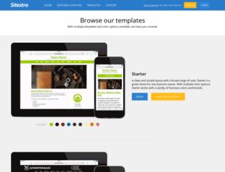 signup.sitestro.com screenshot