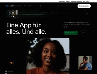 signup.webex.de screenshot