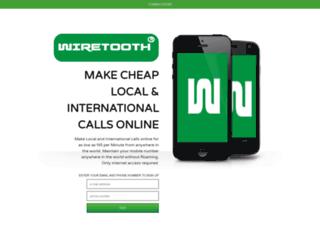 signup.wiretooth.com screenshot