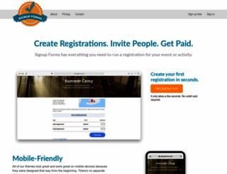 signupforms.com screenshot