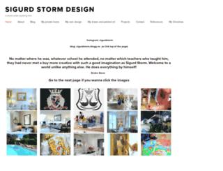 sigurdstorm.com screenshot