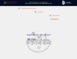 sii.itsanjuan.edu.mx screenshot