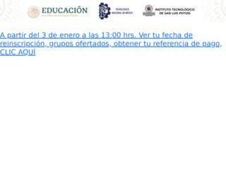 siidsar.itslp.edu.mx screenshot