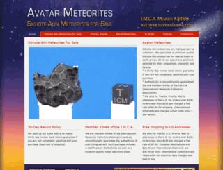 sikhote-alin-meteorites.com screenshot
