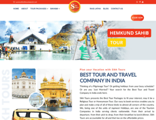 sikhtours.in screenshot
