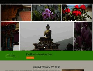 sikkimecotours.com screenshot