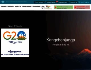 sikkimtourism.gov.in screenshot