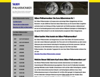 silber-philharmoniker.de screenshot
