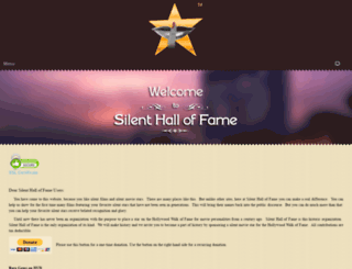 silent-hall-of-fame.org screenshot