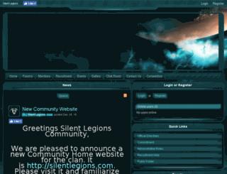 silent-legions.enjin.com screenshot