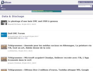 silicondata.fr screenshot