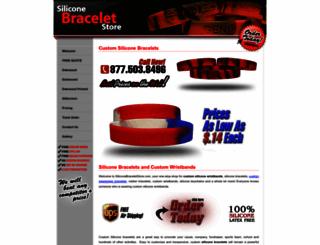 siliconebraceletstore.com screenshot