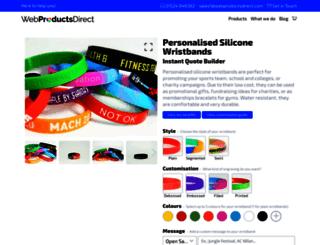 siliconewristbandsdirect.co.uk screenshot