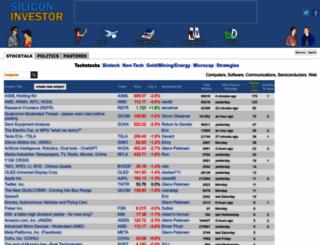 siliconinvestor.com screenshot