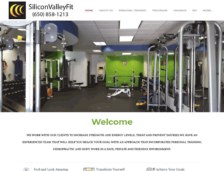 siliconvalleyfit.com screenshot