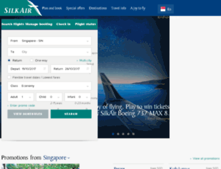 silkair.com.sg screenshot