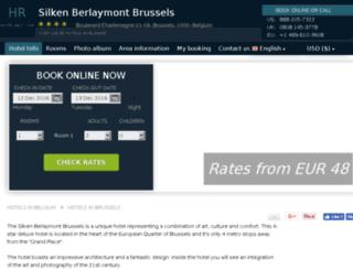 silken-berlaymont.hotel-rez.com screenshot