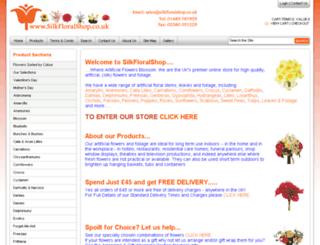 silkfloralshop.co.uk screenshot