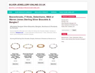 silver-jewellery-online.co.uk screenshot