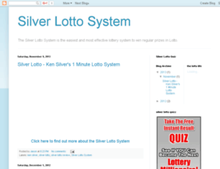 silver-lotto-system.blogspot.com screenshot