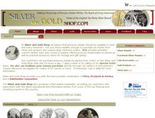 silverandgoldshop.com screenshot