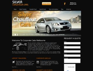 silverchauffeurcars.com.au screenshot