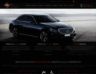 silvercorporatecabs.com.au screenshot