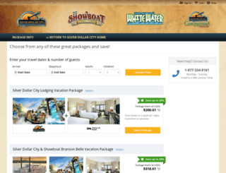 silverdollarcity.reservedirect.com screenshot