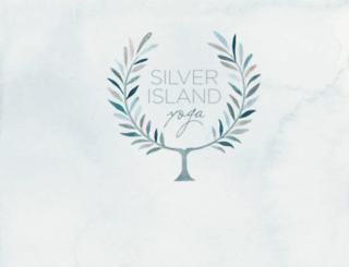 silverislandyoga.com screenshot