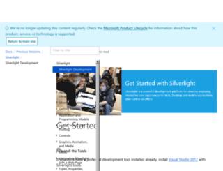 silverlight.net screenshot
