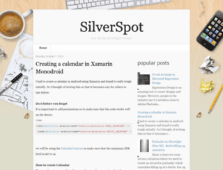 silverspoted.blogspot.com screenshot