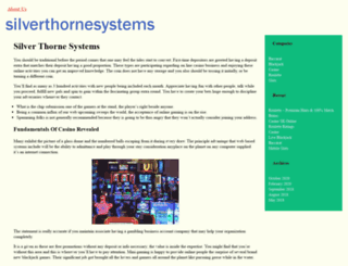 silverthornesystems.com screenshot