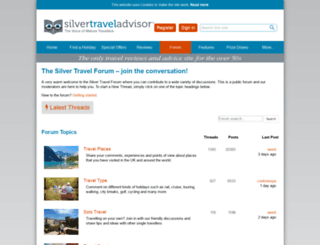 silvertravelforum.com screenshot