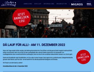 silvesterlauf.ch screenshot