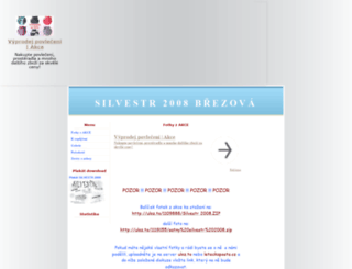 silvestr2008.7x.cz screenshot