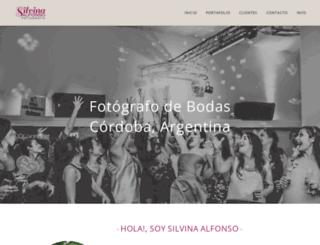 silvinaalfonso.com screenshot