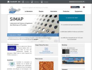 simap.grenoble-inp.fr screenshot
