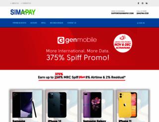 simapay.com screenshot
