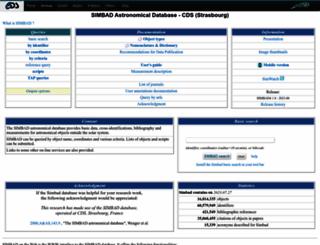 simbad.u-strasbg.fr screenshot