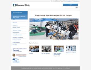 simcenter.clevelandclinic.org screenshot