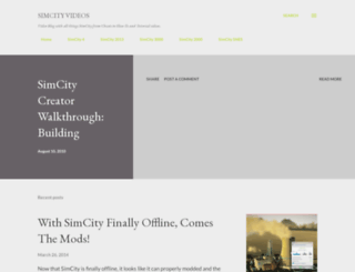 simcityvideos.blogspot.com screenshot