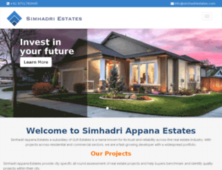simhadriestates.com screenshot