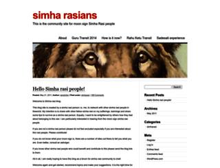 simharasi.wordpress.com screenshot