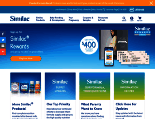 similac.com screenshot