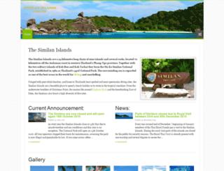 similanislands.org screenshot